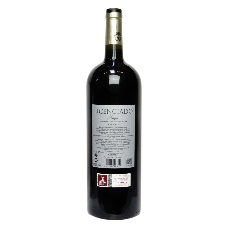 Vino D.O. Rioja tinto reserva Licenciado 1,5 l. -
