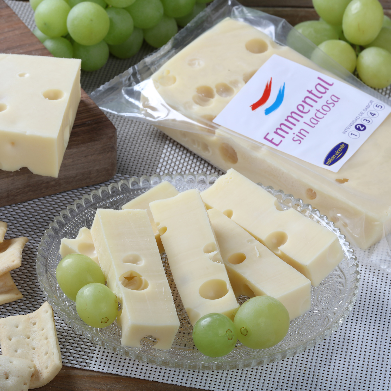 Queso emmental sin lactosa -