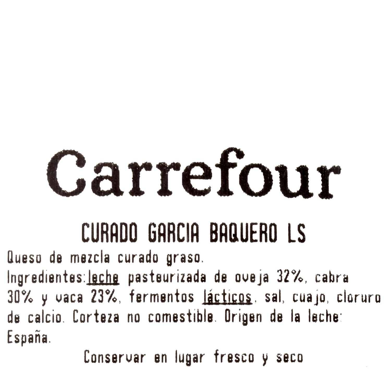 Queso curado mezcla reserva 12 meses García Baquero al corte 300 g aprox - 3
