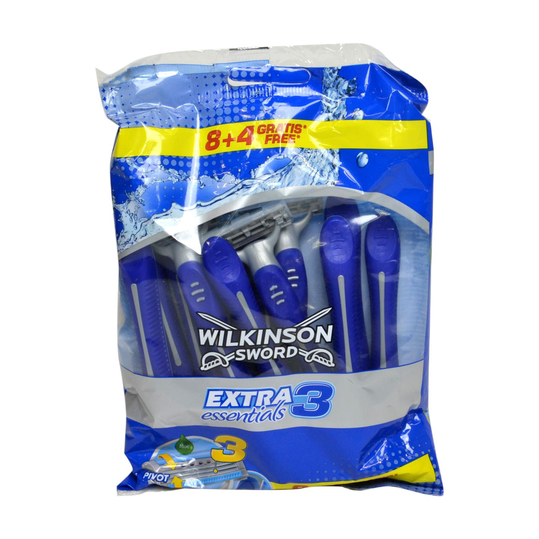 Maquinilla de afeitar desechable Extra 3 essentials Wilkinson 8 ud.
