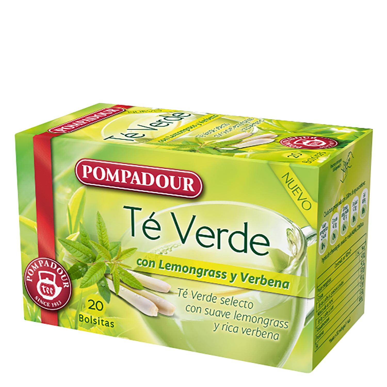 Té verde Pompadour 20 ud.