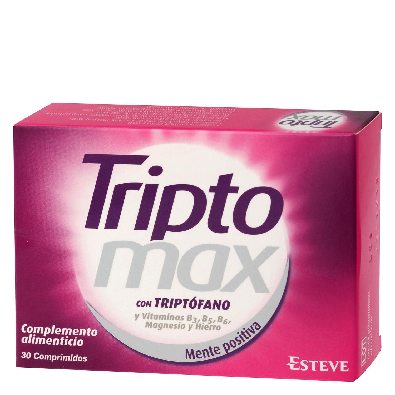 Complemento alimenticio con triptófano Triptomax sin gluten y sin lactosa 30 comprimidos.