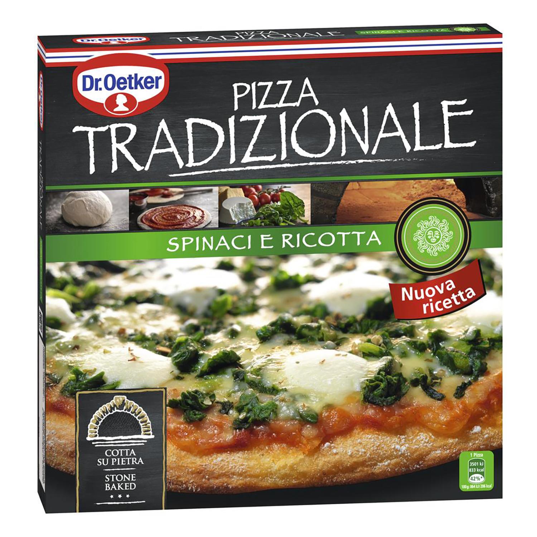 Pizza tradizional Espinaca Dr. Oetker 405 g.