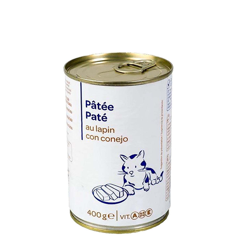 Lata Pate de Conejo para Gato 400 gr