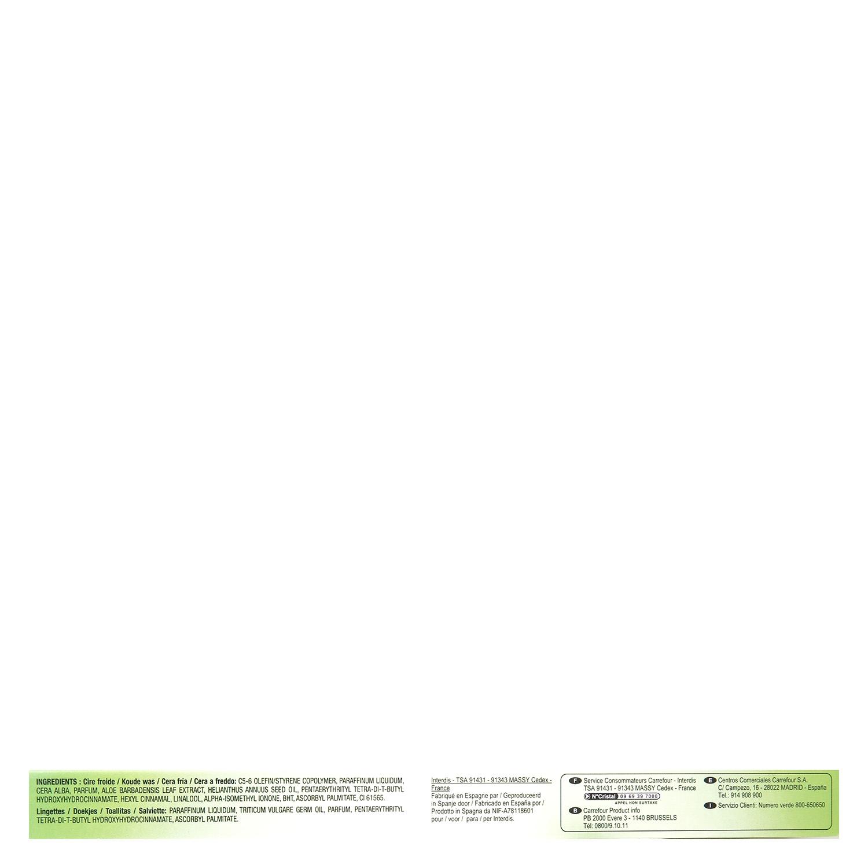 Bandas depilatorias corporales de cera fría con aloe vera Carrefour 20 ud. - 3
