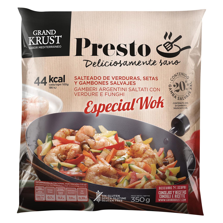 Salteado de verduras especial wok