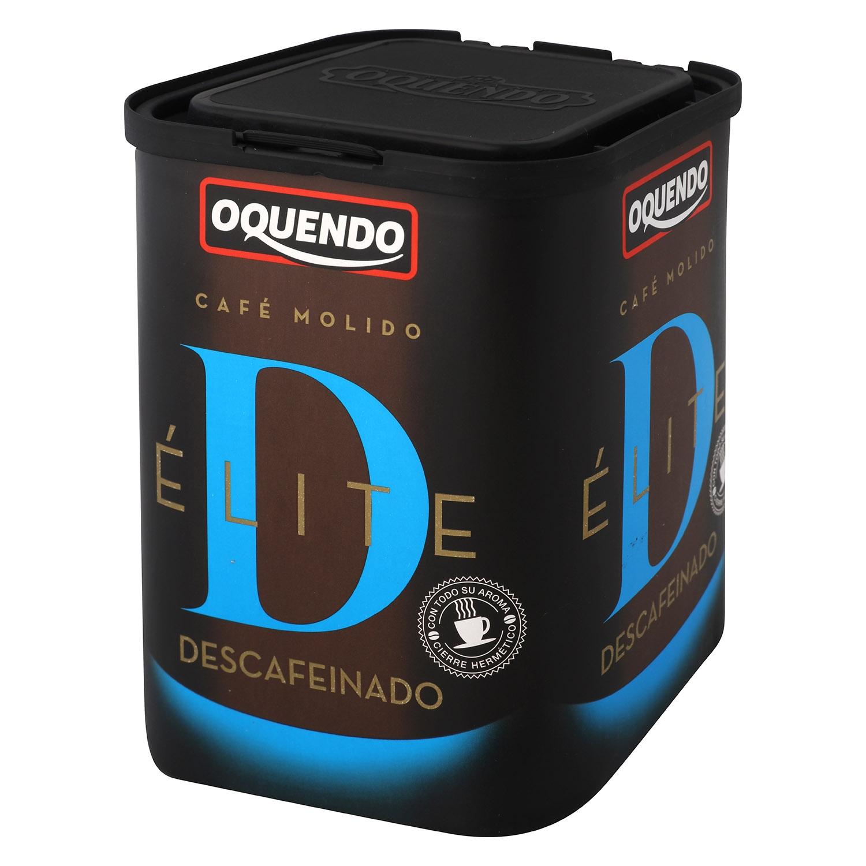 Café molido natural descafeinado Oquendo 250 g.
