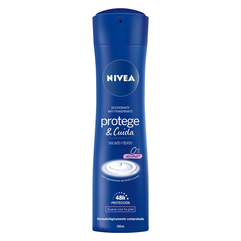 Desodorante Protege&Cuida spray Nivea 200 ml.