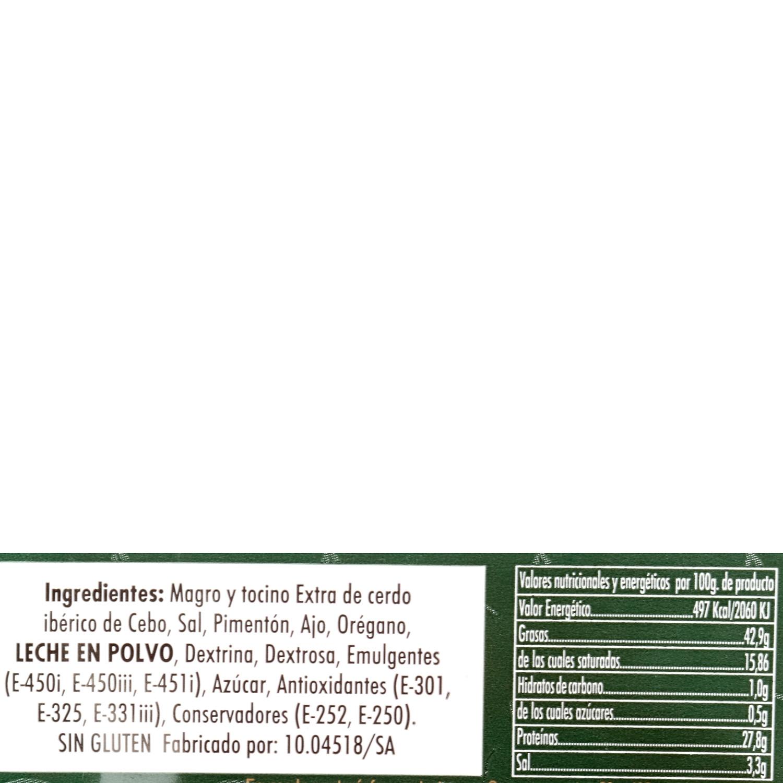 Chorizo ibérico de cebo loncheado Cárnicas Los Plantios bipack (2x75g) envase 150 g - 3