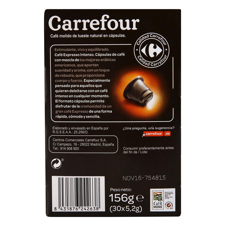 Café intenso en cápsulas Carrefour compatible con Nespresso 30 unidades de 5,2 g. - 3