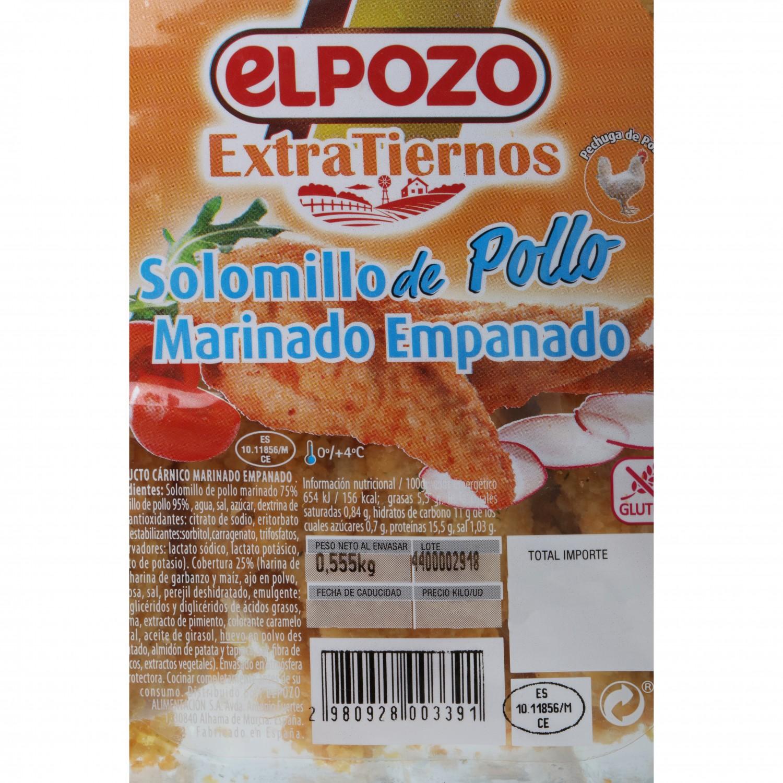 Solomillo de Pollo Marinado Empanado El Pozo 500 g - 3