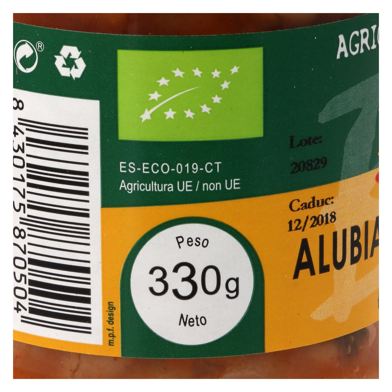 Alubias con verdura ecológica -