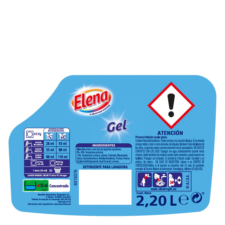 Detergente líquido Elena 40 lavados. -