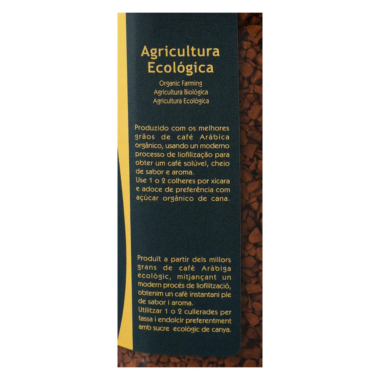 Café soluble liofilizado descafeinado ecológico Cavalle 100 g. - 2