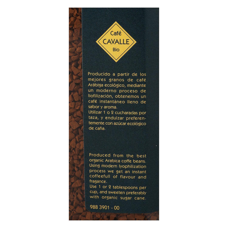 Café soluble liofilizado descafeinado ecológico Cavalle 100 g. - 3