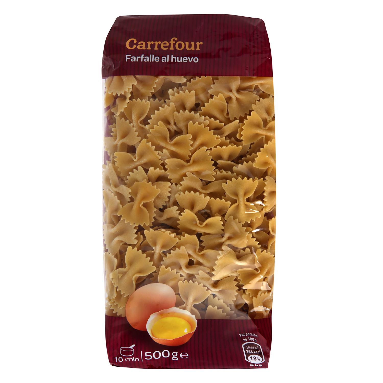 Farfalle al huevo Carrefour 500 g.