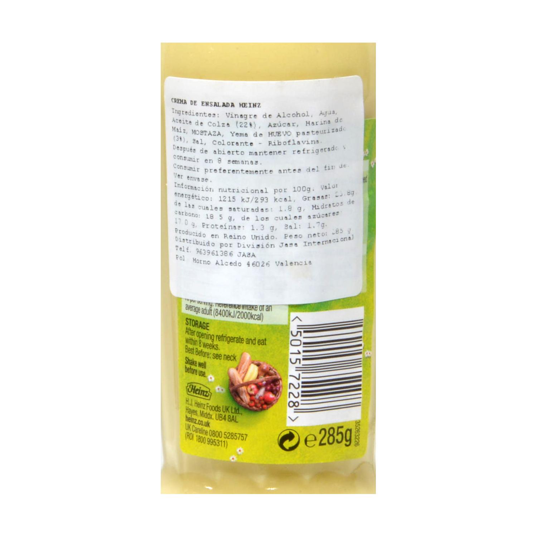 Crema de ensalada Heinz 285 g. -