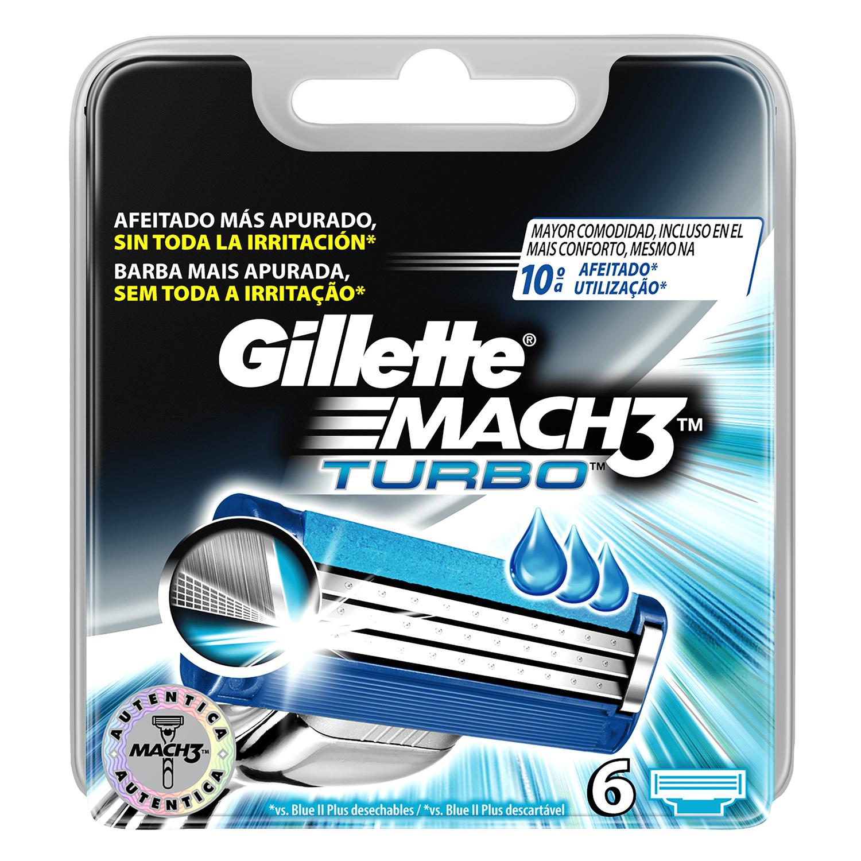 Cargador para afeitar Gillette Mach3 6 ud.