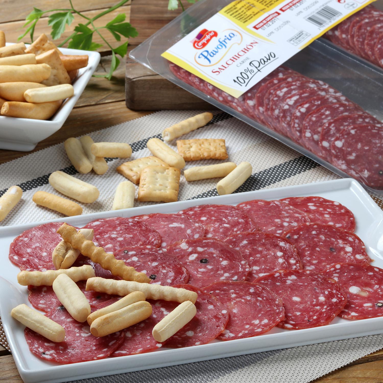 Salchichón de pavo 100% loncheado Campofrío bipack 2 envases 60 g -