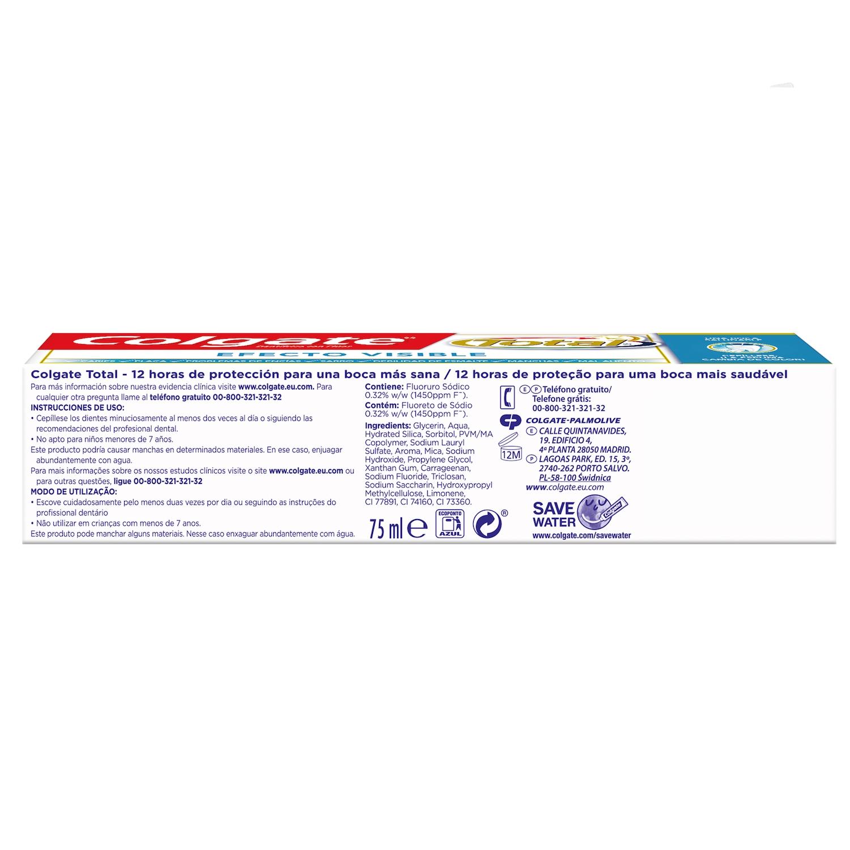 Dentrífico Total Efecto Visible Colgate 75 ml. - 2