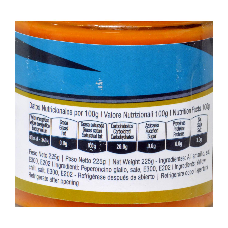 Salsa para pasta de ají amarillo Minka tarro 225 g. -