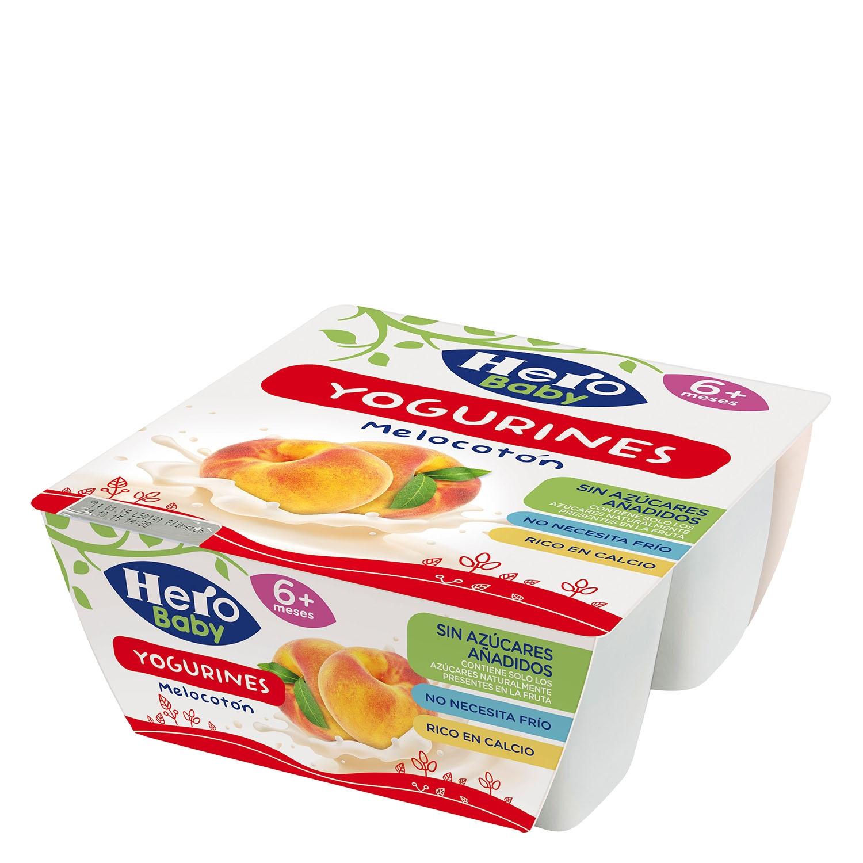 Yogurines de melocotón