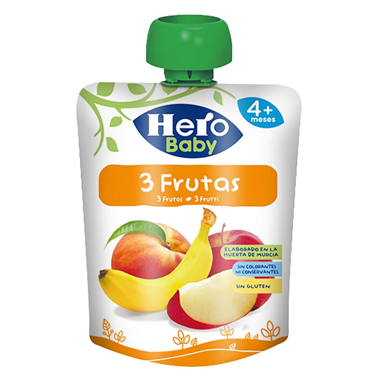 Bolsita de 3 frutas Hero Baby 100 g.