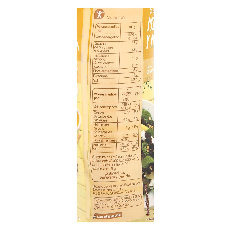 Salsa miel y mostaza Carrefour envase 300 g. -