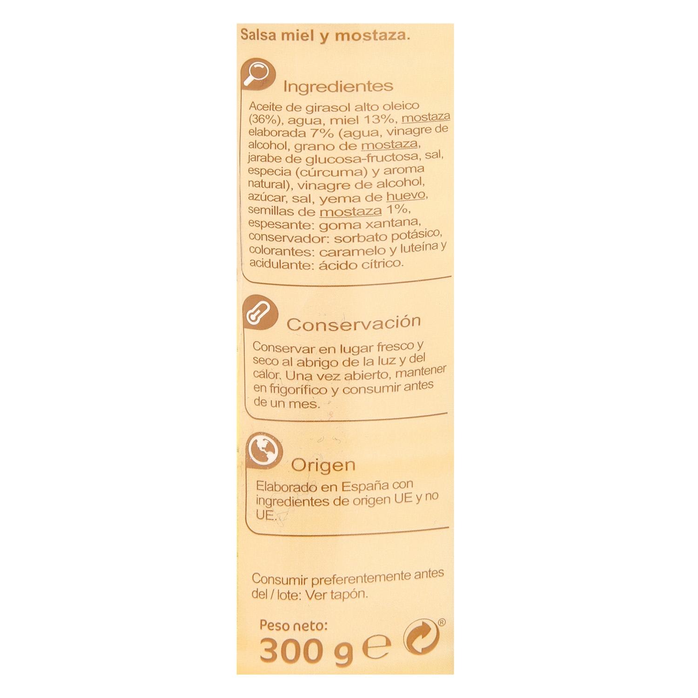 Salsa miel y mostaza Carrefour envase 300 g. - 2