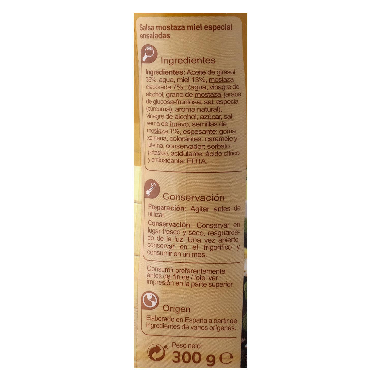 Salsa miel y mostaza Carrefour envase 300 g. - 3