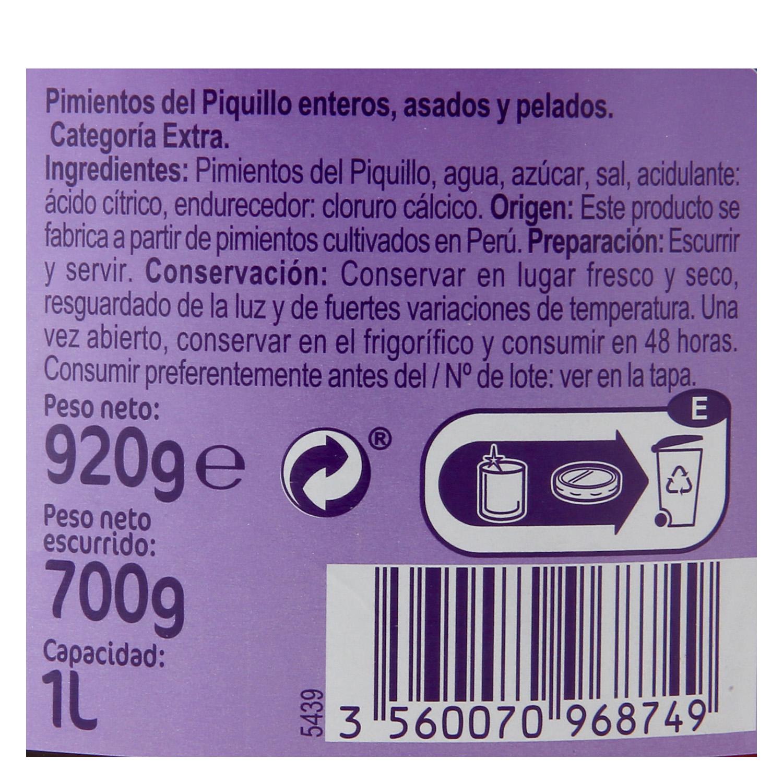Pimientos del piquillo Carrefour 700 g. -
