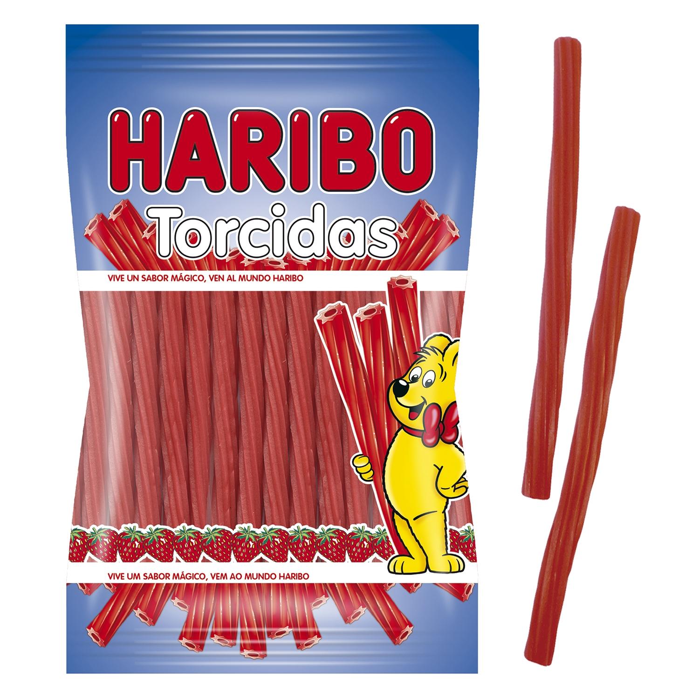 Regaliz de goma sabor fresa Torcidas Haribo 175 g.