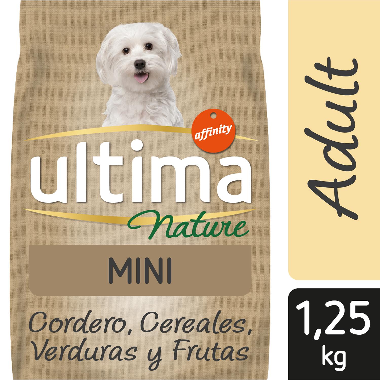 Ultima Nature Pienso para Perro Mini Sabor cordero 1,25kg. -