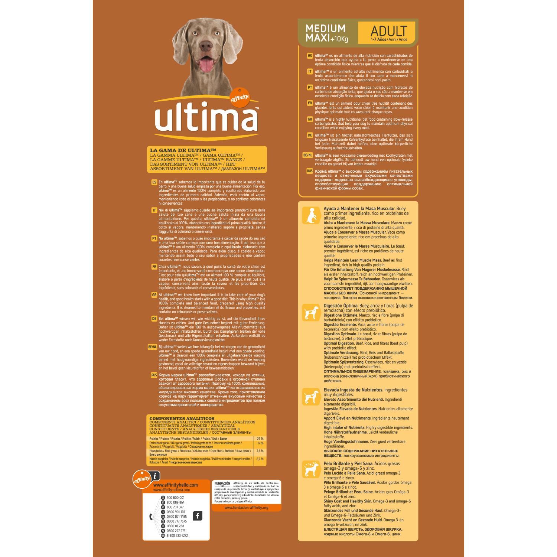 Alimento Perro Seco Ultima Medium Maxi Adulto Buey - 2