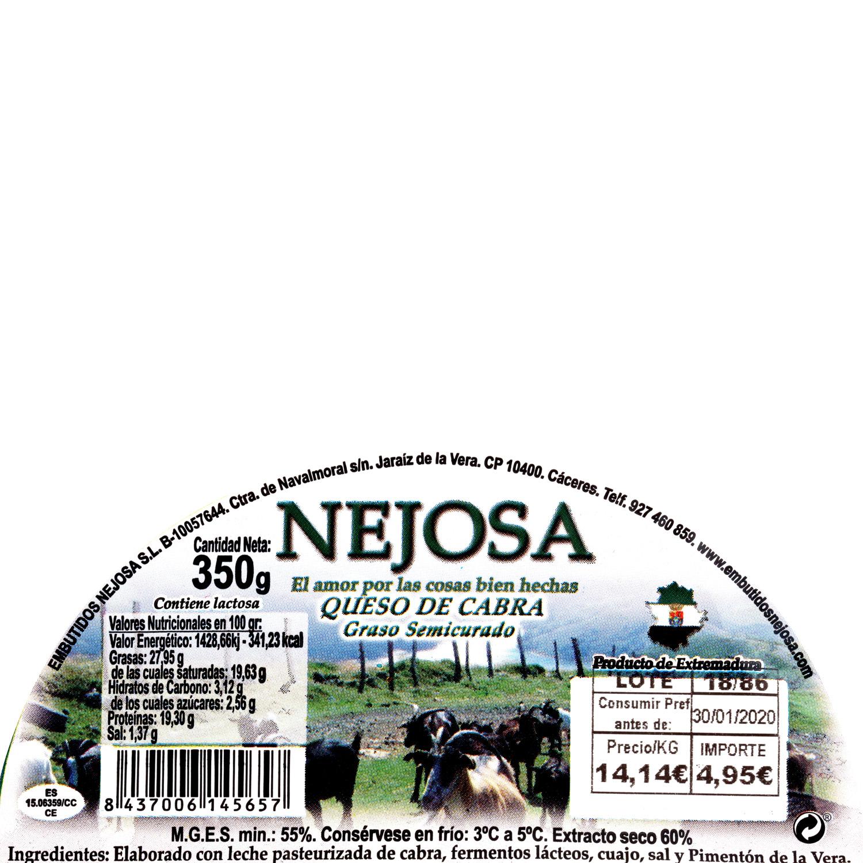 Queso semicurado de cabra pasteurizado al pimentón Nejosa 1/2 pieza 350 g - 3