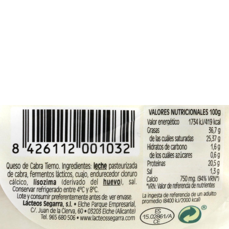 Queso de cabra blanca mini servilleta madurado Cabrelx 425 g - 3