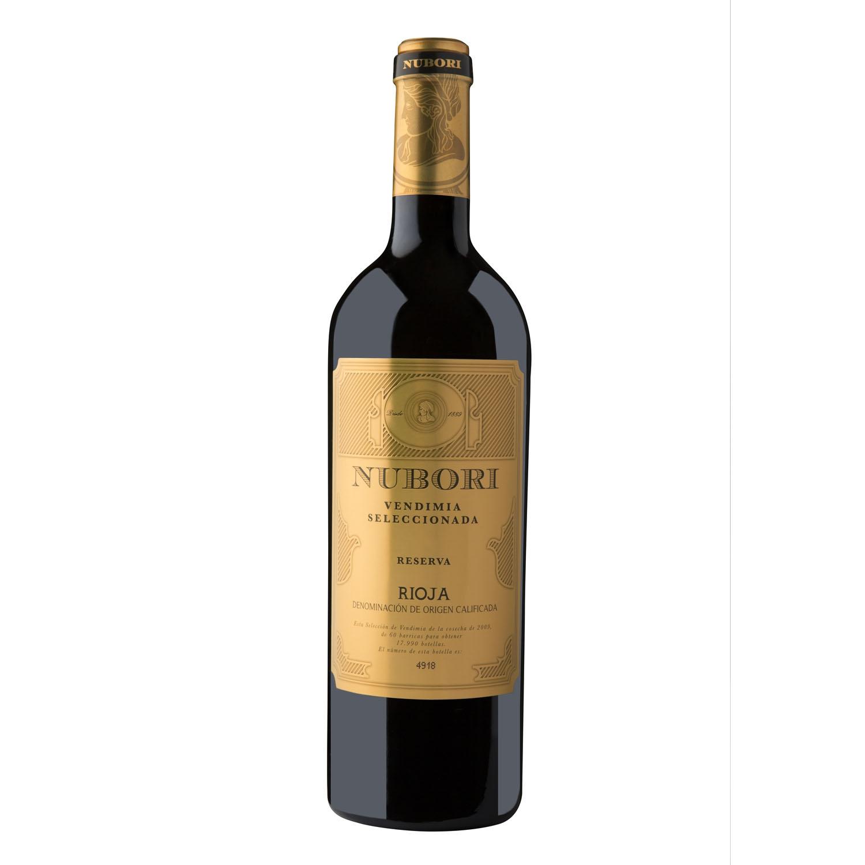 Vino D.O. Rioja tinto reserva vendimia seleccionada Nubori 75 cl.