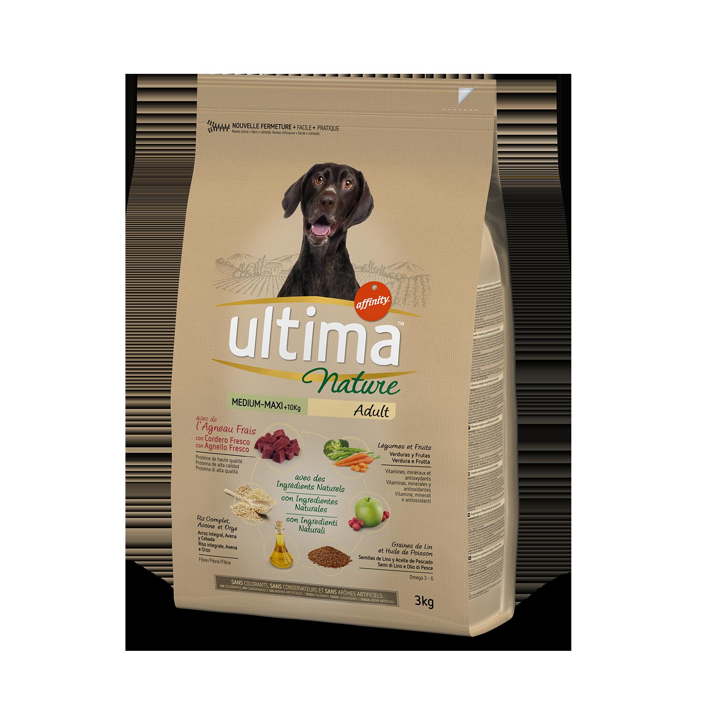 Ultima Nature Pienso para Perro Adulto Medium - Maxi Sabor Cordero 3kg.