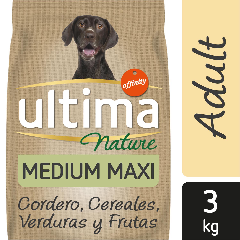 Ultima Nature Pienso para Perro Adulto Medium - Maxi Sabor Cordero 3kg. -