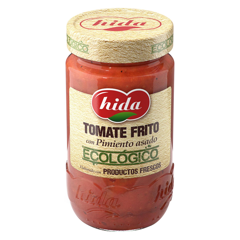 Tomate frito con pimiento asado ecológico Hida tarro 350 g.