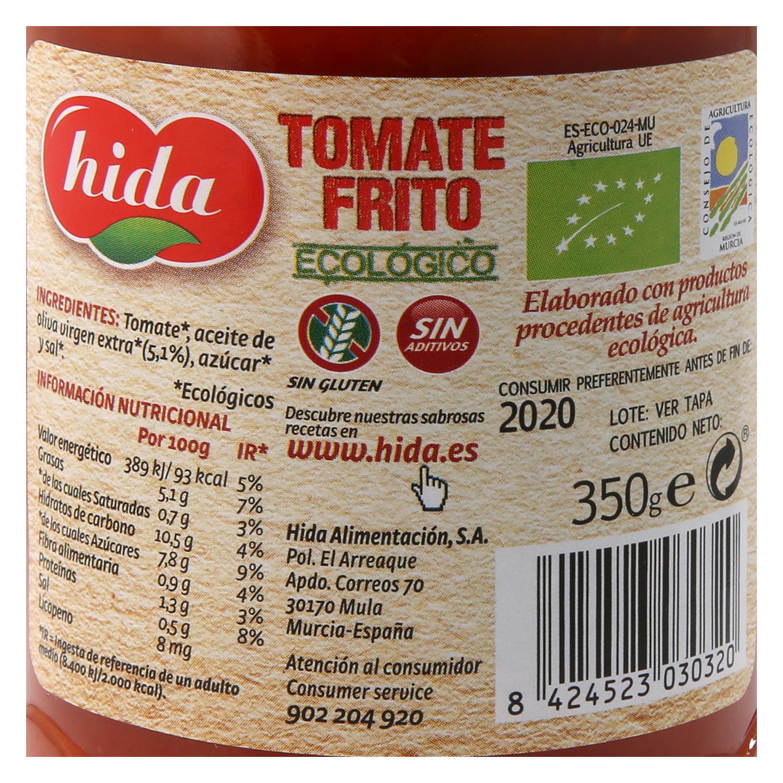 Tomate frito ecológico Hida tarro 350 g. -