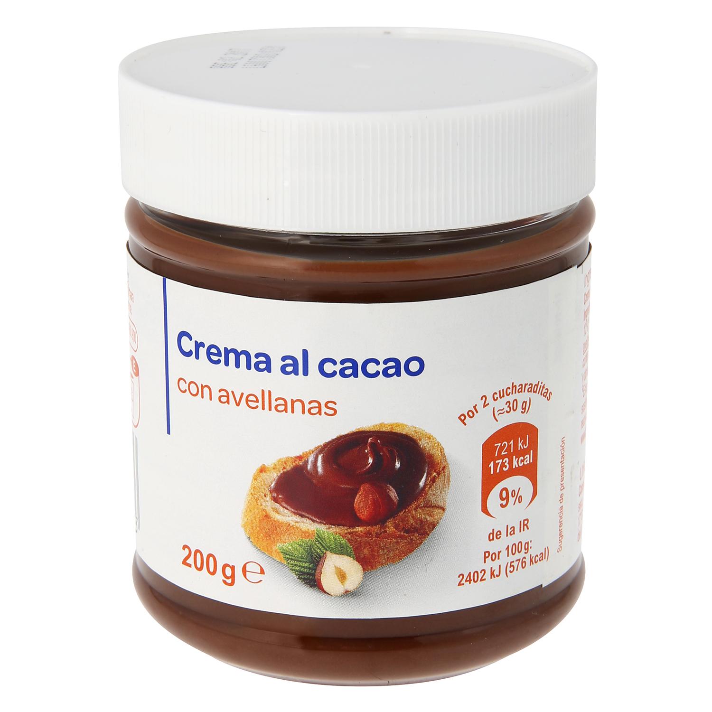 Crema de cacao con avellanas Producto blanco 200 g.