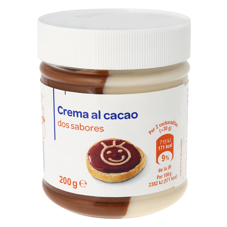 Crema de cacao y leche Producto blanco 200 g.