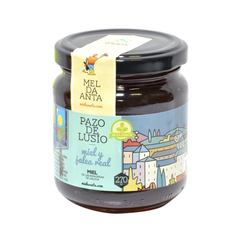 Miel con jalea real ecológica Pazo de Lusio 270 g.