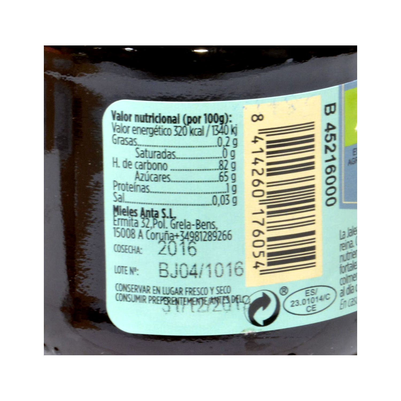 Miel con jalea real ecológica Pazo de Lusio 270 g. -