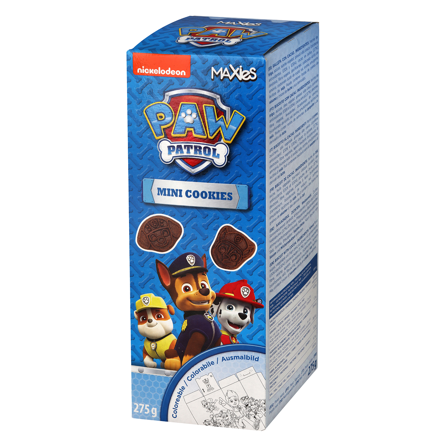 Galletas Mini Cooloes Paw Patrol Maxies 275 g.