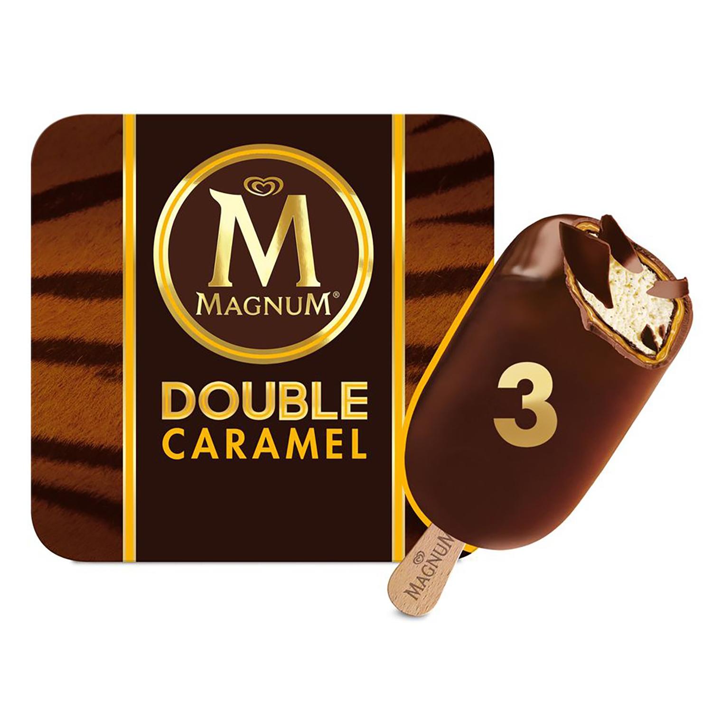 Bombón helado Double Caramel Magnum 3 ud. -