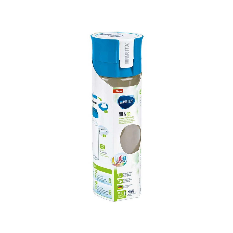 Pack Botella de Plástico  fill&go 0,6 L. con 1 Filtro Azul -