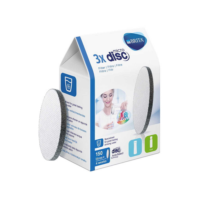 Set de 3 Filtros de agua de  BRITA MicroDisc -