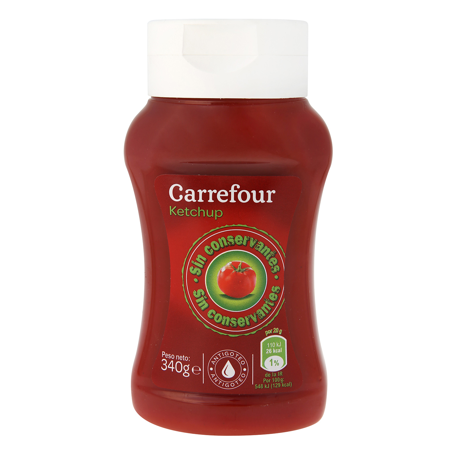 Ketchup Carrefour envase 340 g.